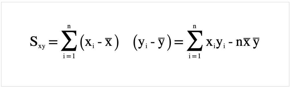 x,yの共分散