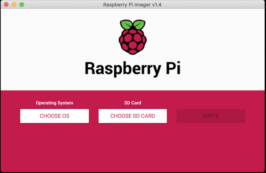 Raspberry Pi Imager起動