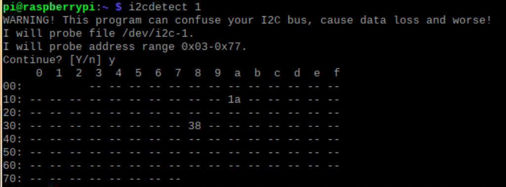 I2Cdetect
